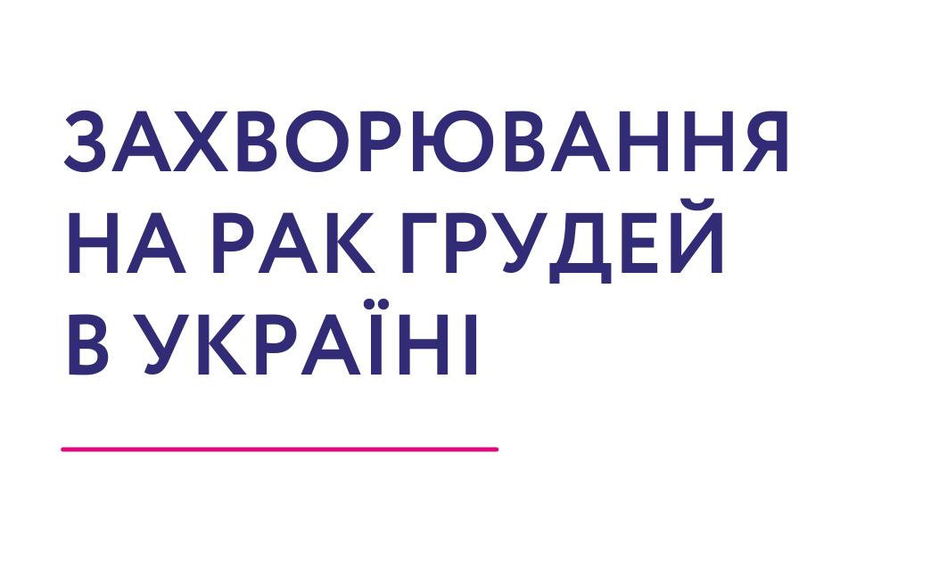Захворювання на рак грудей в Україні